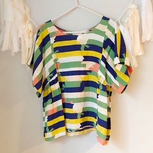 Anthropologie Maeve | Multi-color Striped Blouse